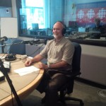 In studio at CBC Radio-Canada