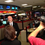 Don interviewed by CBC live in the newsroom