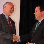 Hon. Jason Kenney presents Don the Queen Elizabeth II Diamond Jubilee Medal