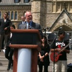Speaking at a rally on Parliament Hill