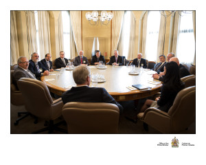 Meeting with Prime Minister Stephen Harper