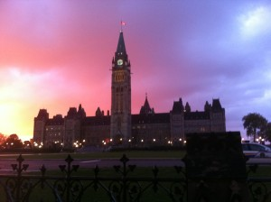 Parliament Hill before breakfast