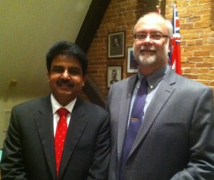 With Shahbaz Bhatti, February 2011